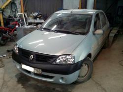 Восстановление  а\м Renault Logan после ДТП