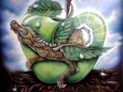 "Картина  ""Яблочное зернышко"""