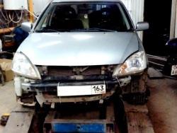 Восстановление  а\м Mitsubishi Lancer после ДТП