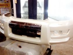 Покраска  и  установка б/у накладки  на  бампер Toyota Prado