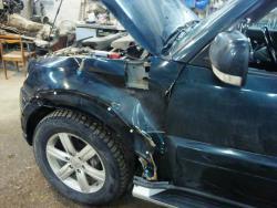 Восстановление  Mitsubishi Pajero 2008г после ДТП