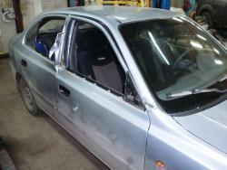 Восстановление после ДТП Hyundai Accent