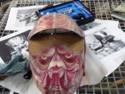 Пейнтбольная  маска и фидер  на  пистолет