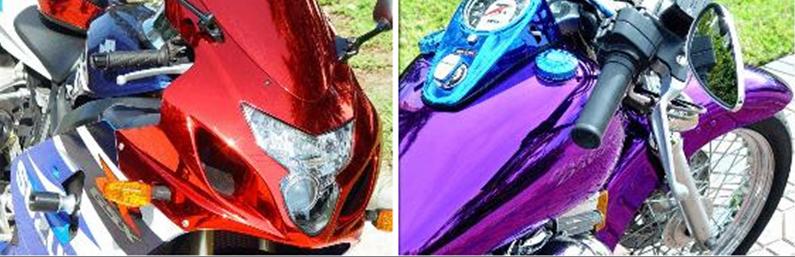 Цветовая гамма представленная на  мотоциклах